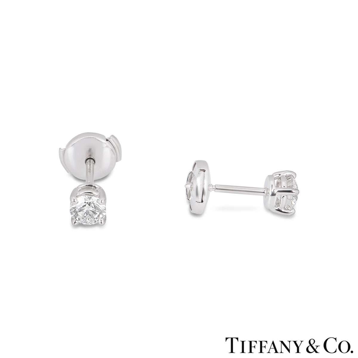 Tiffany & Co. Diamond Ear Studs 0.80ct TDW